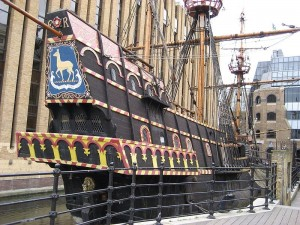 The Golden Hind. Francis Drake's bitch. You'd have kissed that ass too.