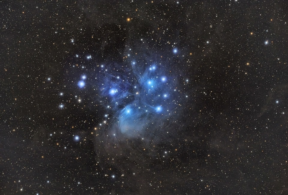 The Pleiades. AKA The Seven Sisters of Heaven.